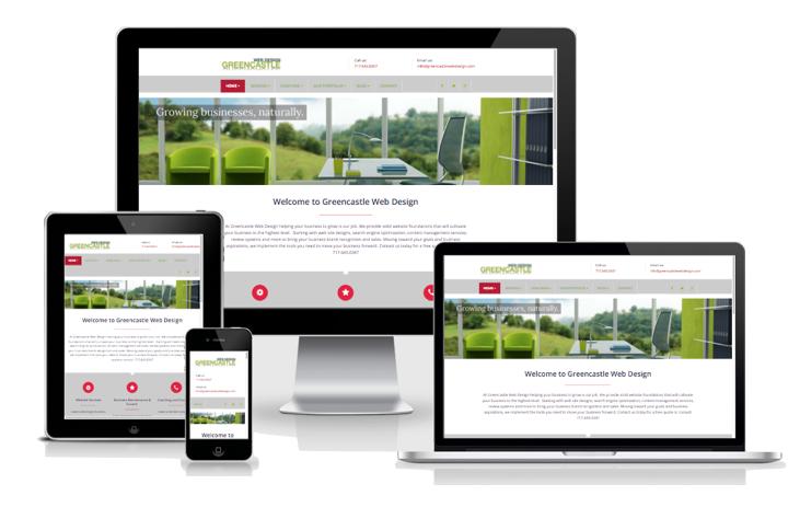 web designed by greencastle web design