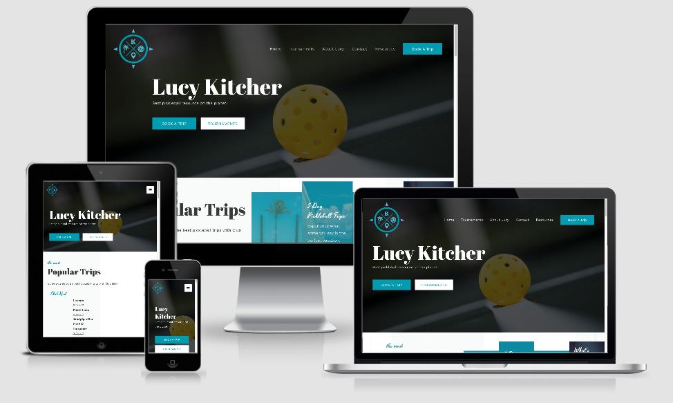 Website design by Greencastle web design for Lucy Kitcher